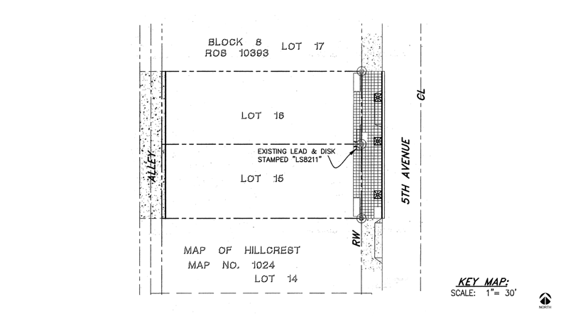 02-Road-5th Ave Sidewalk-Site Map
