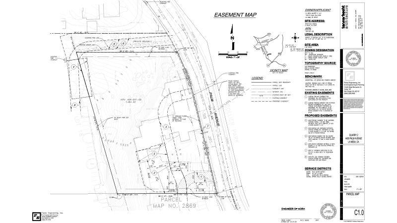 03_Florez Civil Engineering-4400 Palm-Easement Map