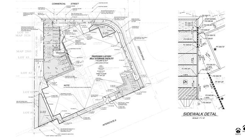 04-Commercial-StorQuest-Site Map-Sidewalk Detail